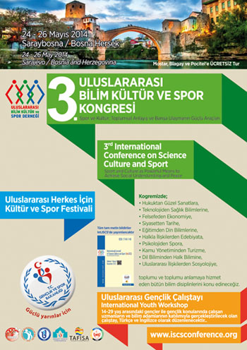 3rd International Conference on Science Culture and Sport Conference Afi�i