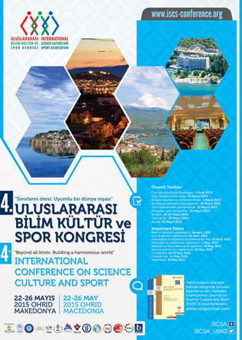 4th International Conference on Science Culture and Sport Conference Poster