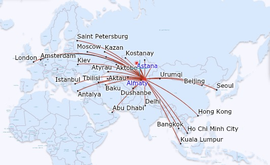 Air Astana destinations